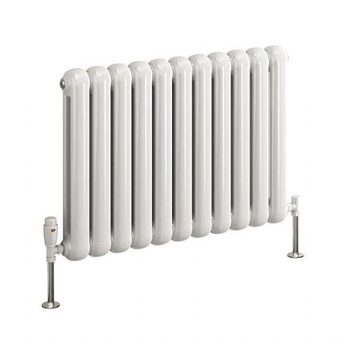 Reina Coneva Horizontal Designer Radiator - 1420mm Wide x 550mm High - White